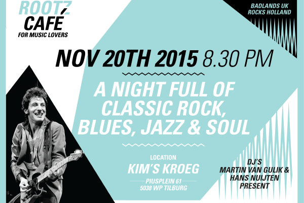 20 November: 1st Rootz Café @ Kim's kroeg