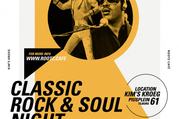 ROOTZ CAFÉ CLASSIC ROCK&SOUL NIGHT ON SATURDAY 24TH OF MARCH'18