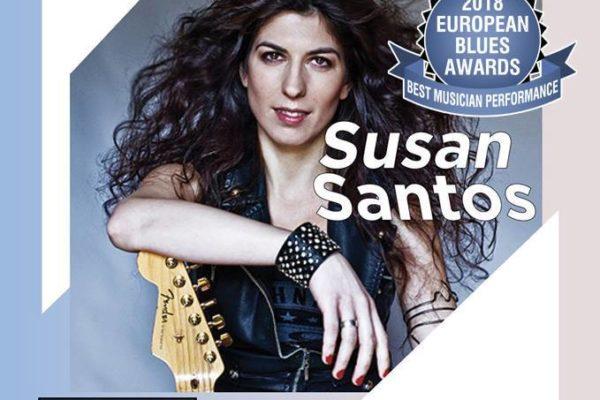 Bluesguitarist Susan Santos in Heyhoef Backstage Tilburg Reeshof 16 March'19